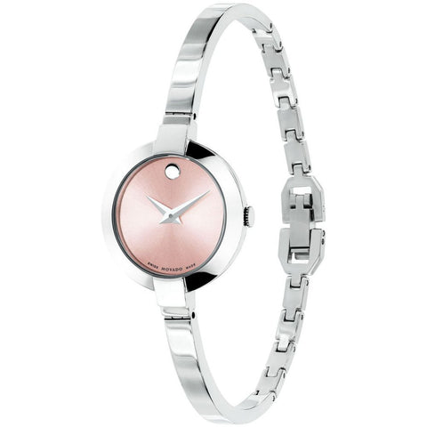 Movado 0606596 Bela Analog Display Quartz Watch, Silver Stainless Steel Band, Round 25mm Case