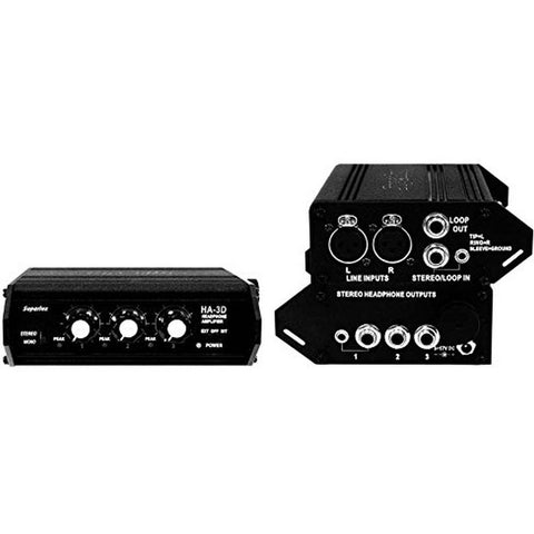 Superlux HA3D Portable Headphone Distribution Amplifier, Black