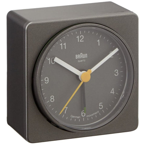 Braun BNC011GYGY Classic Analog Display German Quartz Alarm Clock, Grey
