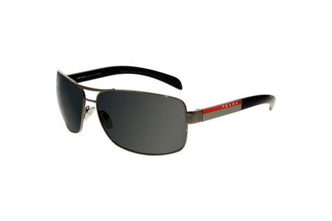 Prada PS 54IS-5AV1A1-65 Linea Rossa Sunglasses, Black Frame, Gray 65mm Lenses
