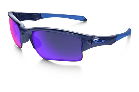Oakley OO9200-04 Quarter Jacket Sunglasses, Polished Navy Frame, Red Iridium 61mm Lenses