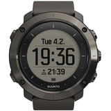 Suunto SS022226000 Traverse Graphite Digital Display Quartz Watch, Graphite Silicone Band, Round 50.0mm Case