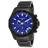 Swiss Legend SL-16199SM-BB-33 Islander Men's Analog Display Quartz Watch, Black Stainless Steel Band, Round 48mm Case