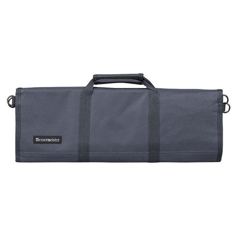 Messermeister 2066-12GY 12-Pocket Padded Knife Roll, Gray
