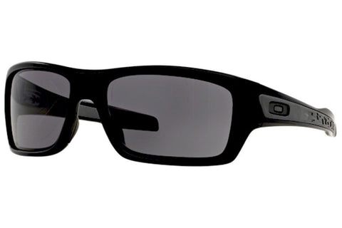 Oakley OO9263-01 Men's Turbine Sunglasses, Matte Black Frame, Warm Grey 63mm Lenses