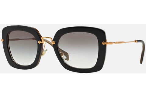 Miu Miu MU 07OS KAY0A7 Sunglasses, Black Frame, Gray 52mm Lenses