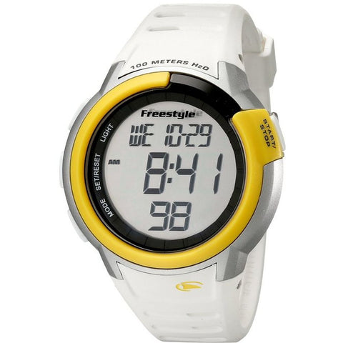 Freestyle Unisex FS84897 Mariner Digital Watch, White Silicone Band, Round 47mm Case
