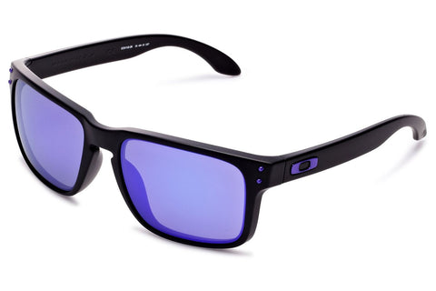 Oakley OO9102-26 Julian Wilson Signature Series Holbrook, Matte Black Frame, Violet Iridium 55mm Lenses