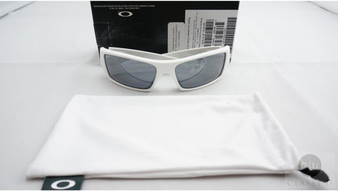 Oakley OO9014 03 474 GasCan Sunglasses - Polished White Frame - Black Iridium 60mm Lenses