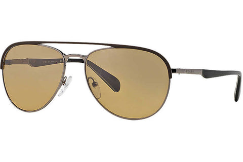 Prada PR51QS LAH2C2 Sunglasses, Matte Brown/Gunmetal Frame, Brown 59mm Lenses