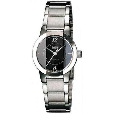 Casio LTP1230D-1C Women's Analog Display Quartz Watch, Silver Stainless Steel Band, Round 30mm Case