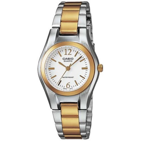 Casio LTP1253SG-7A Women's Analog Display Quartz Watch, Two-Toned Stainless Steel Band, Round 37mm Case
