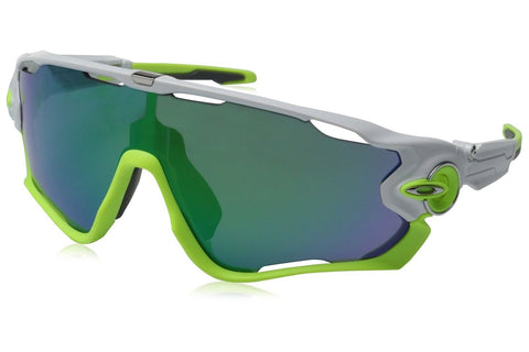 Oakley OO9290-03 Men's Jawbreaker Sunglasses, Polished White Frame, Jade Iridium 31mm Lenses