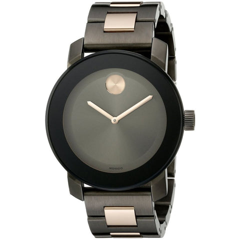 Movado 3600327 Bold Analog Display Quartz Watch, Two-Tone Stainless Steel Band, Round 36mm Case