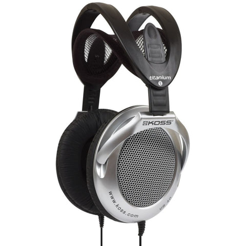 Koss UR40 Collapsible Titanium Headphones, Over-Ear, 15-22,000 Hz Frequency Response, 60 Ohms Impedance