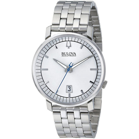 Bulova 96B216 Accutron II Telluride Collection Analog Display Quartz Watch, Silver Stainless Steel Band, Round 41mm Case