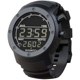Suunto SS014528000 Elementum Aqua Black Rubber / Dark Display Digital Display Quartz Watch, Black Silicone Band, Round 51.5mm Case
