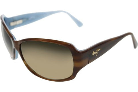 Maui Jim HS295-03T Nalani Sunglasses, Tortoise/White & Blue Frame, Polarized HCL Bronze 61mm Lenses