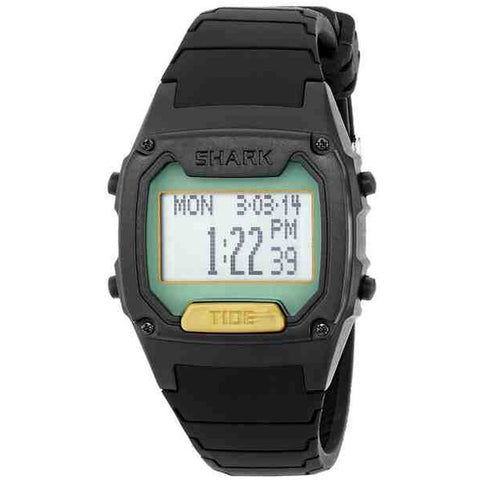 Freestyle Men's 103325 Shark Classic Tide Digital Watch, Black Silicone Band, Tonneau 38mm Case
