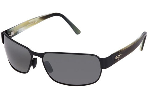 Maui Jim 249-2M Black Coral Sunglasses, Matte Black Frame, Neutral Grey Polarized 65mm Lenses