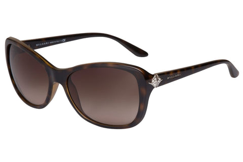 Bvlgari BV8127B 977/13 Oversized Women's Sunglasses, Havana Frame, Brown Gradient 57mm Lens