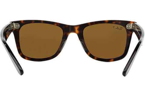 ray ban polarized original wayfarer  ray ban rb2140 902/57 original wayfarer classic sunglasses, tortoise frame, polarized