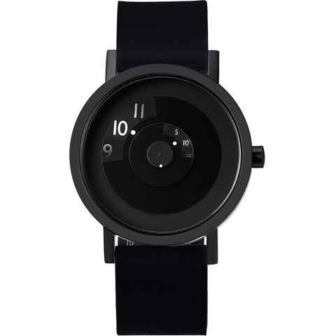 Projects 7203BS-40 Reveal Analog Display Quartz Watch, Black Silicone Band, Round 40mm Case