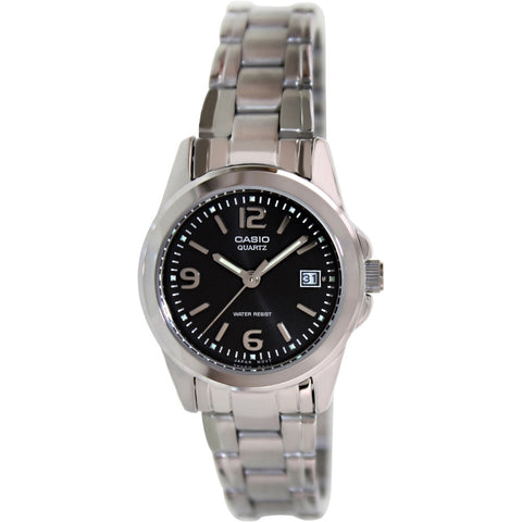 Casio LTP1215A-1A Women's Analog Display Quartz Watch, Silver Stainless Steel Band, Round 26mm Case