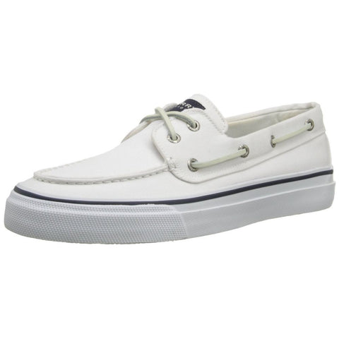Sperry Top-Sider 0561332 Men's Bahama 2-Eye Boat Shoe, White, Size 9 US(M)