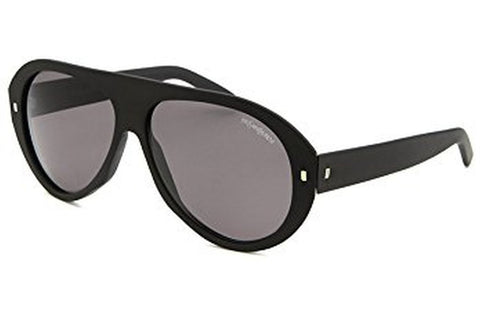 Yves Saint Laurent YSL 2333/S 807/P9 Aviator Sunglasses, Black Frame, Grey 57mm Lenses