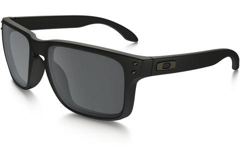 Oakley OO9102-63 Holbrook Sunglasses, Matte Black Frame, Black Iridium 55mm Lenses