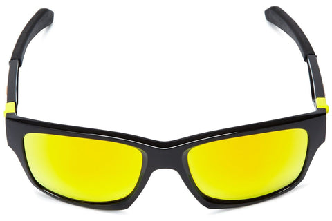 Oakley OO9135-11 Jupiter Squared Valentino Rossi Signature Sunglasses, Polished Black Frame, Fire Iridium 56mm Lenses