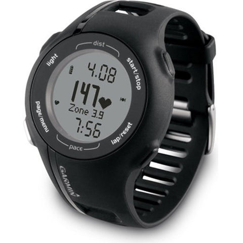 Garmin 010N086330 Forerunner 210 GPS Receiver with Heart Rate Monitor, Black, Certified Refurbished
