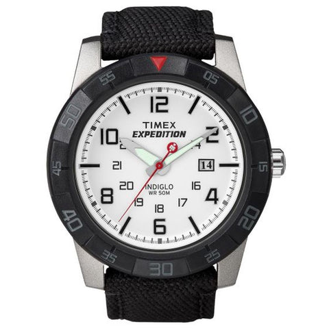 Timex T49863 Expedition Rugged Men's Analog Display Quartz Watch, Black Nylon Band, Round 43mm Case