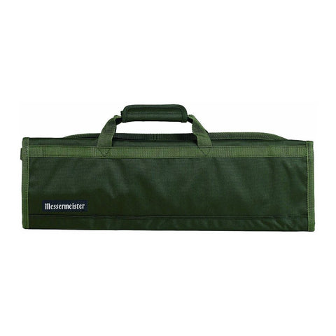 Messermeister 2066-8OL 8-Pocket Padded Knife Roll, Olive