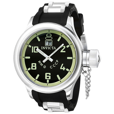 Invicta 4342 Russian Diver Men's Analog Display Quartz Watch, Two-toned Polyurethane Band, Round 52mm Case