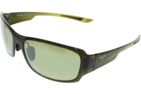 Maui Jim HT415-15F Bamboo Forest Sunglasses, Olive Fade Frame, Green 60mm Lenses