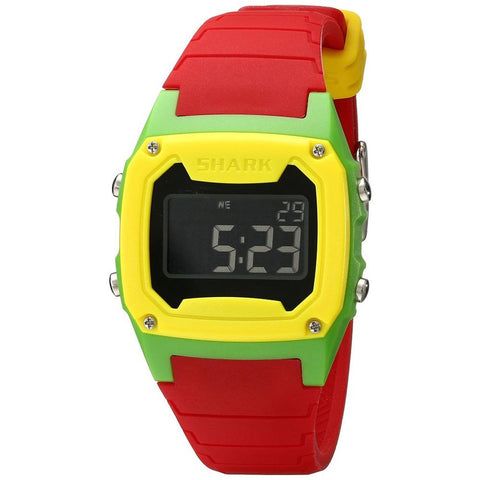 Freestyle Unisex 101807 Shark Classic Digital Watch, Red Silicone Band, Square 37mm Case