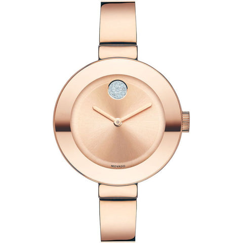 Movado 3600202 Bold Analog Display Quartz Watch, Rose Gold Ion-Plated Stainless Steel Band, Round 34mm Case