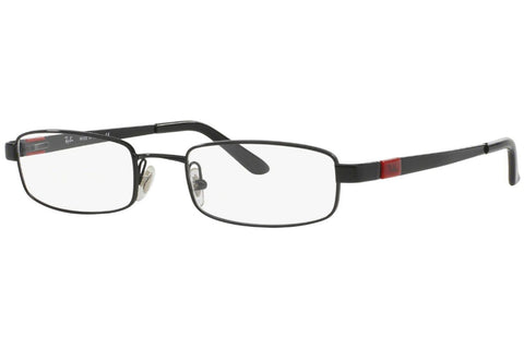 Ray-Ban RB6076 2509 Eyeglasses, Black Frame, Clear 51mm Lenses