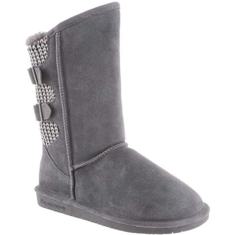 Bearpaw 1669W-030-M050 Women's Boshie 10in Tall Boots, Charcoal, Size 5 M US