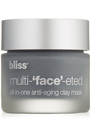 Bliss Multi-'Face'-Eted All-In-One Anti-Aging Clay Mask 3 Mask Applications 0.14 Oz Each