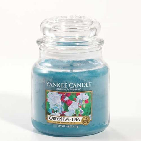 Yankee Candle 1152870 Garden Sweet Pea Medium Jar Candle, 14.5 oz