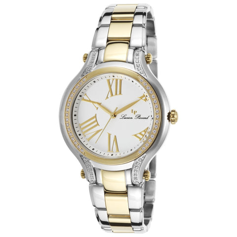 Lucien Piccard LP-16353-SG-22 Elisia Women's Analog Display Quartz Watch, Two-Tone Stainless Steel Band, Round 36mm Case