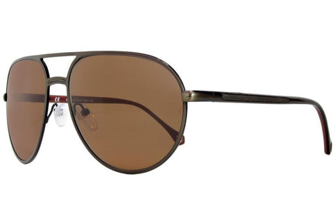 Ermenegildo Zegna SZ3201M K05P Sunglasses, Bronze Frame, Polarized Brown 59mm Lenses