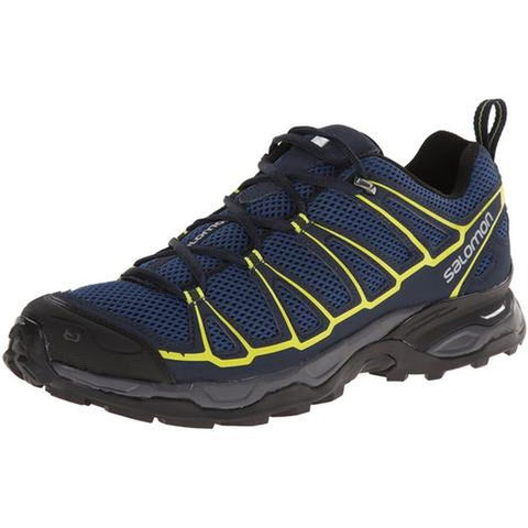 Salomon L37167200-075 Men's X Ultra Prime Multifunctional Hiking Shoes, Fjord/Deep Blue/Gecko Green, 7.5 M US