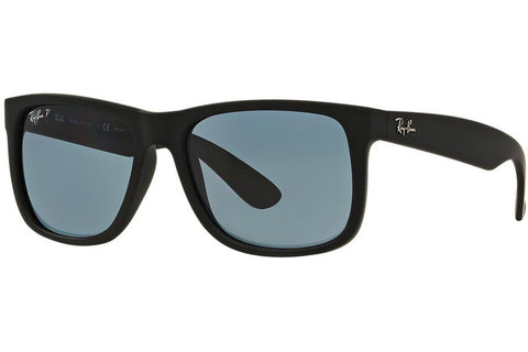 Ray-Ban RB4165 622/2V 55, Justin Classic Sunglasses, Black Frame, Blue Polarized 55mm Lenses