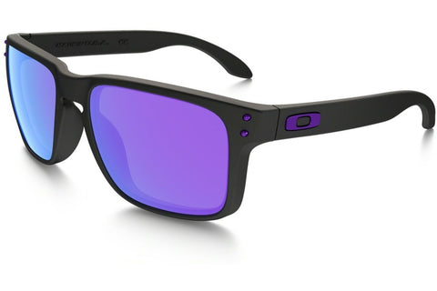 Oakley OO9102 26 Julian Wilson Signature Series Holbrook, Matte Black Frame, Violet Iridium 55mm Lenses