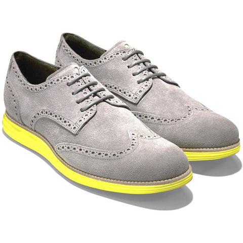 Cole Haan C10226 LunarGrand Wingtip Oxford Men's Shoes, Charcoal Grey Suede, Size 10.5 W US