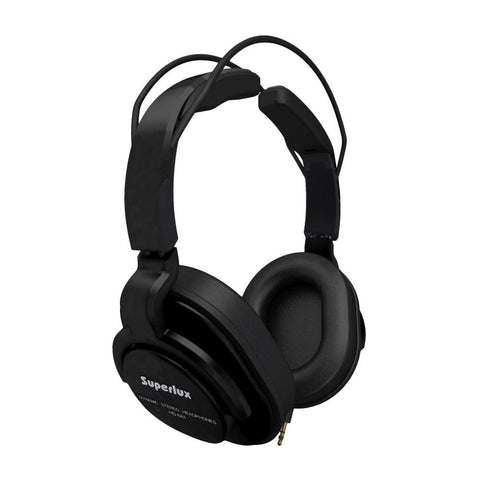 Superlux HD661 Closed-Back Professional Monitoring Headphones, Black